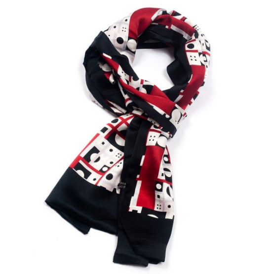 Mens Silk Scarf-Double Layers MSSD014
