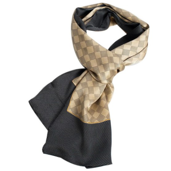 Mens Silk Scarf-Double Layers MSSD015A