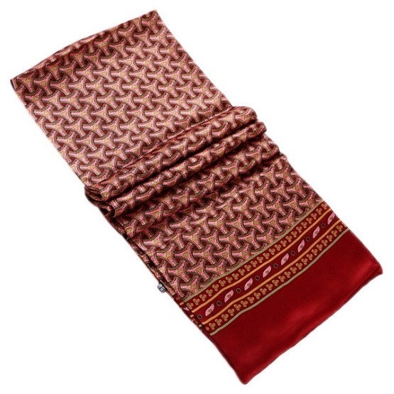 Mens Silk Scarf-Double Layers MSSD020B1