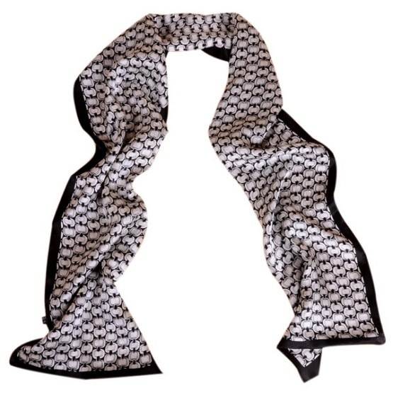 Mens Silk Scarf-Double Layers MSSD02B