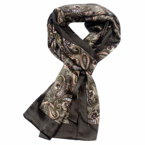 Mens Silk Scarf-Double Layers MSSD03A