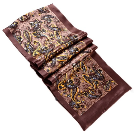 Mens Silk Scarf-Double Layers MSSD03B1