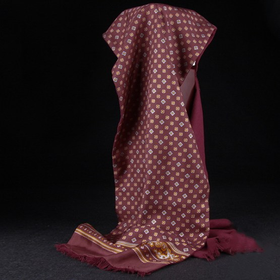 Mens Silk Scarf-Double Layers-Thick MSDT015B