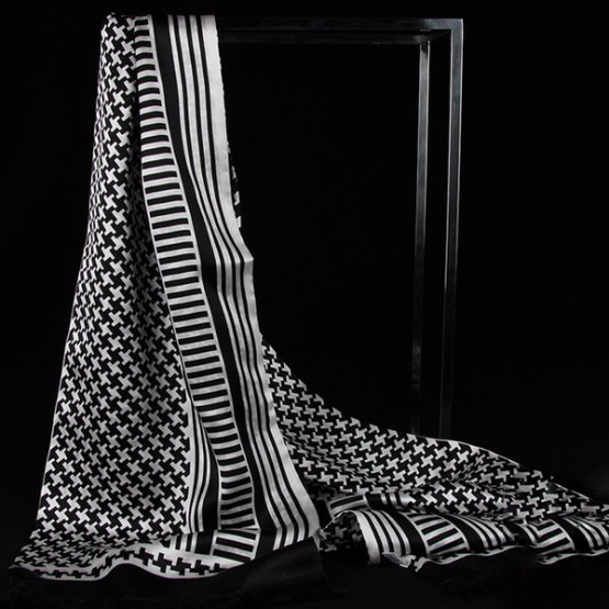 Mens Silk Scarf-Doule Layers with Fringe MSDF02A