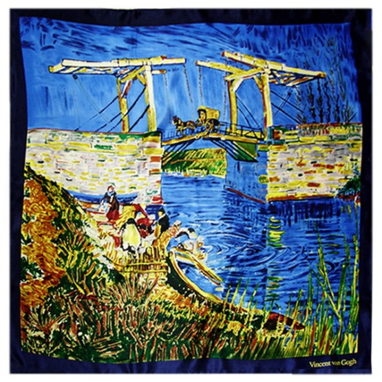 Silk Scarf-Famous Paintings-China Silk Scarf, Digital Silk Scarf