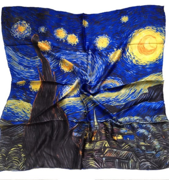 Silk Scarf-Famous Paintings-90SFP022A1