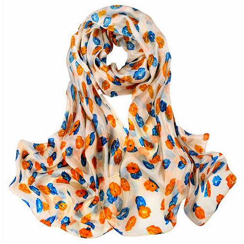 Silk Scarf -Infinity Scarf -Silk PAJ Scarf-KISS-SPKI01A