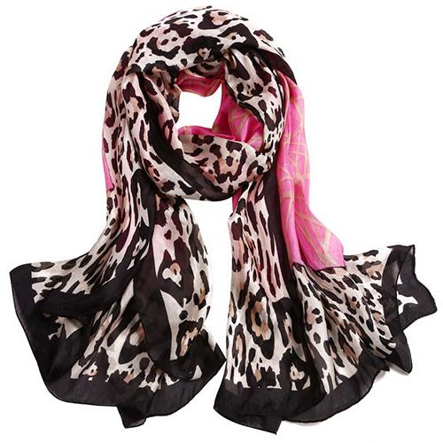 Silk Scarf -Infinity Scarf -Silk PAJ Scarf-Leopard-SPLE010