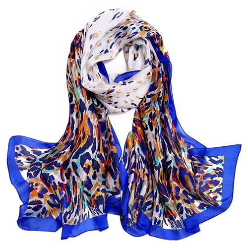 Silk Scarf -Infinity Scarf -Silk PAJ Scarf-Leopard-SPLE013