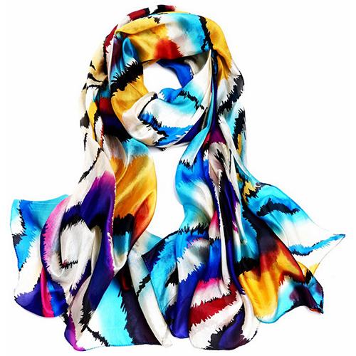 Silk Scarf -Infinity Scarf -Silk PAJ Scarf-Leopard-SPLE03A