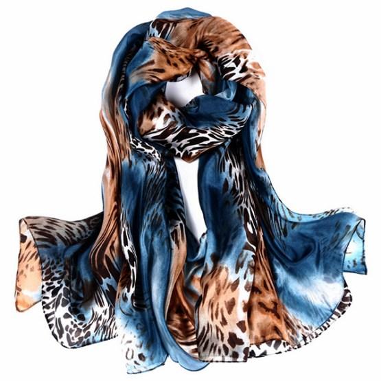 Silk Scarf -Infinity Scarf -Silk PAJ Scarf-Leopard-SPLE04A