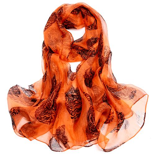 Silk Scarf-Silk Georgette Scarf-Infinity Scarf-ISGS0131
