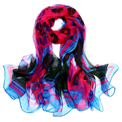 Silk Scarf-Silk Georgette Scarf-Infinity Scarf-ISGS014A