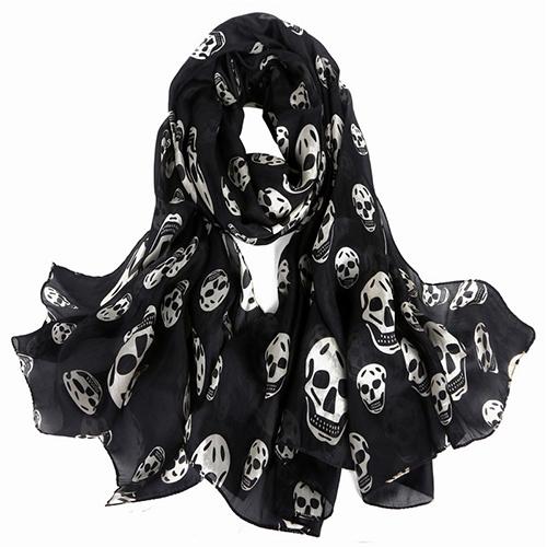 Silk Scarf-Skull Scarf -Silk PAJ Scarf-SPKU01B