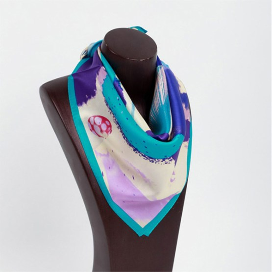 Square Silk Scarf-55CM Silk Scarf-Silk Scarf China- HHS015A