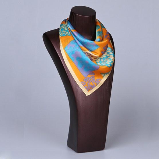 Square Silk Scarf-55CM Silk Scarf-Silk Scarf China- HHS021A