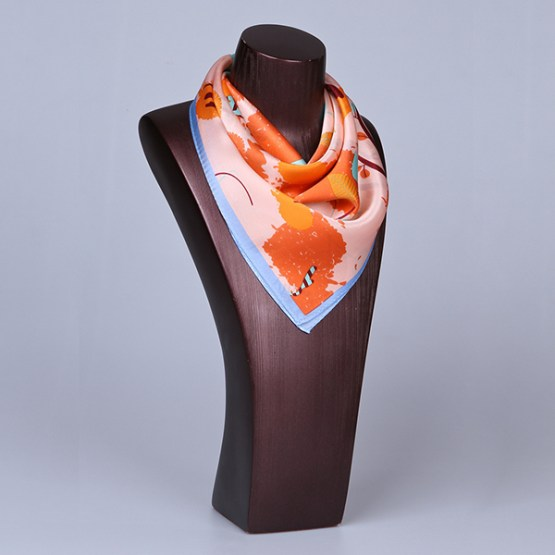 Square Silk Scarf-55CM Silk Scarf-Silk Scarf China- HHS022C