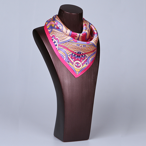 Square Silk Scarf-55CM Silk Scarf-Silk Scarf China- HHS025D