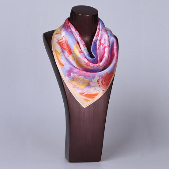 Square Silk Scarf-55CM Silk Scarf-Silk Scarf China- HHS026B
