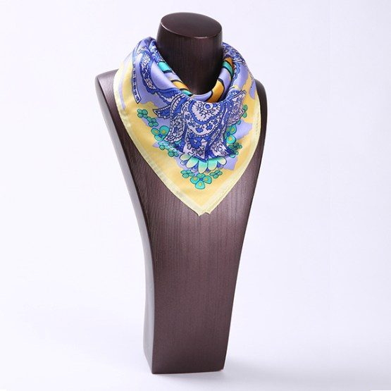 Square Silk Scarf-55CM Silk Scarf-Silk Scarf China- HHS028D