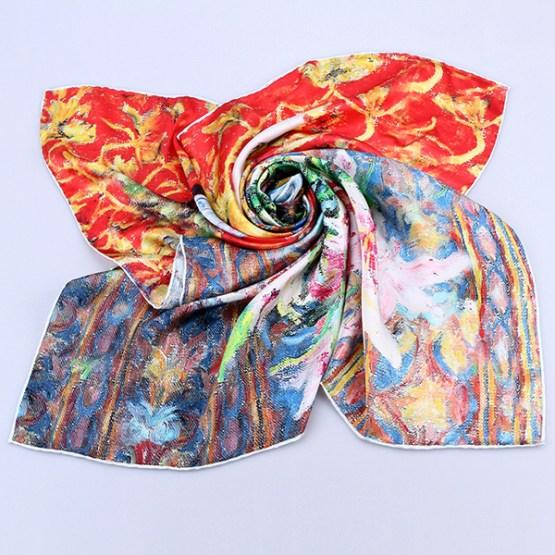 Square Silk Scarf-Silk Scarf-Digital Silk Scarf-100AA010A