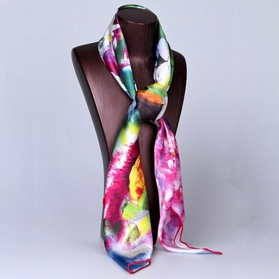 Square Silk Scarf-Silk Scarf-Digital Silk Scarf-100AA011