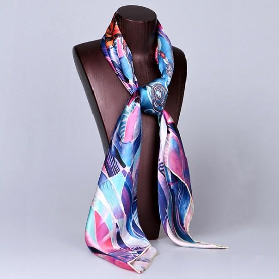 Square Silk Scarf-Silk Scarf-Digital Silk Scarf-100AA012