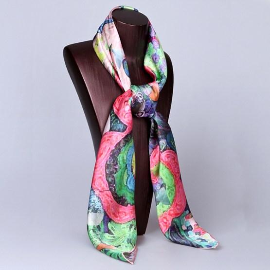 Square Silk Scarf-Silk Scarf-Digital Silk Scarf-100AA013