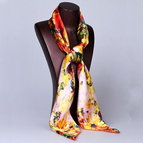 Square Silk Scarf-Silk Scarf-Digital Silk Scarf-100AA014