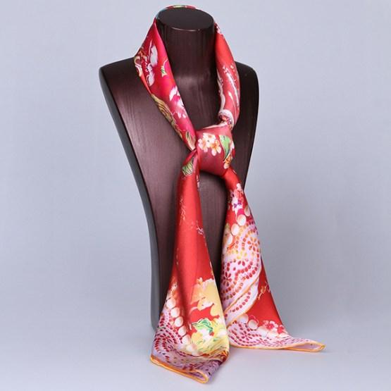 Square Silk Scarf-Silk Scarf-Digital Silk Scarf-100AA017