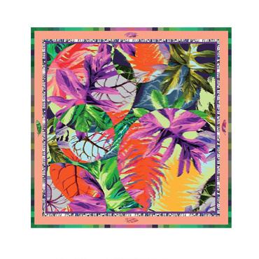 Square Silk Scarf-Silk Scarf-Digital Silk Scarf-100AA02