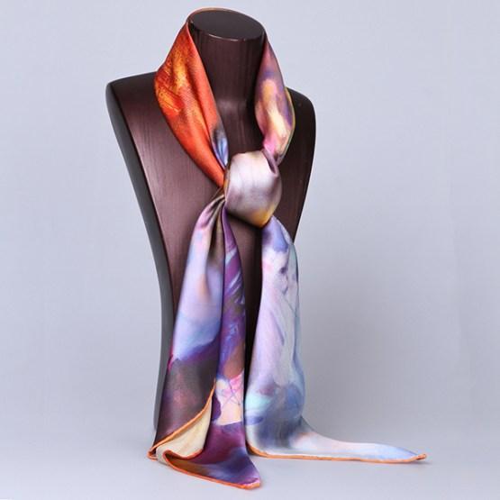 Square Silk Scarf-Silk Scarf-Digital Silk Scarf-100AA09