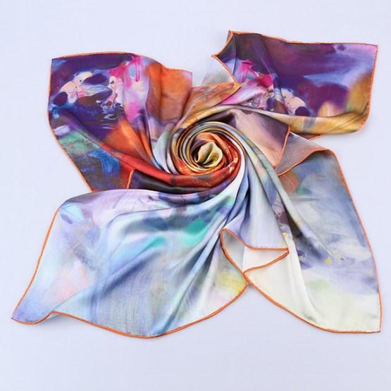 Square Silk Scarf-Silk Scarf-Digital Silk Scarf-100AA09B