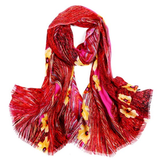Wool Scarf-Digital Wool Scarf-DWS01A