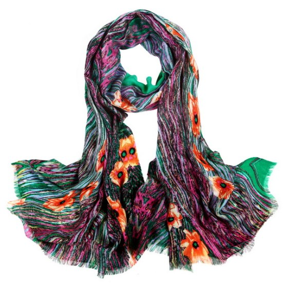 Wool Scarf-Digital Wool Scarf-DWS01D
