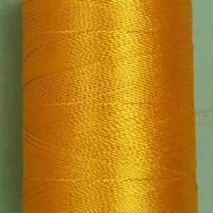 Yellow silk thread spool