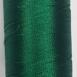 Dark Green silk thread spool
