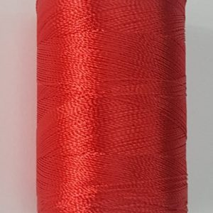 Red shade silk thread spool