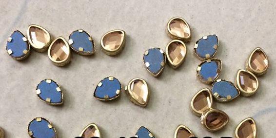 gold thilak kundan stone 8 mm