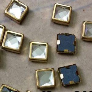 kundan square 8mm