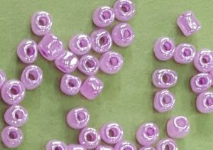 violet glass beads