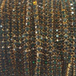 Stone chain dark green