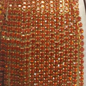 orange stone chain