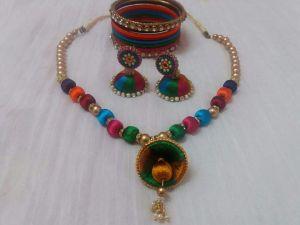 Silk Thread jewellery set