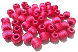 pink wrapped beads
