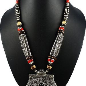Alloy bead necklace