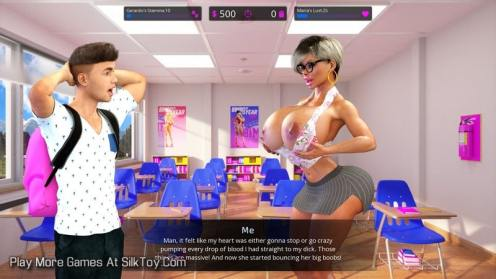 Bimbo High Big Tits Milf 3D Game_5-min