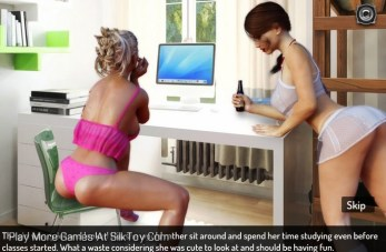 Evening with Lina 3d porn Lesbians Game_3