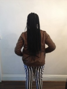 Retro box braids. (Back)