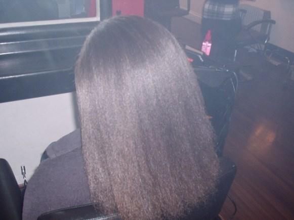Blowdry on unruly hair. (Halfway Through)